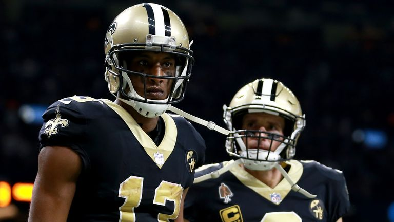 Michael Thomas (left) joined Drew Brees at the New Orleans Saints in 2016
