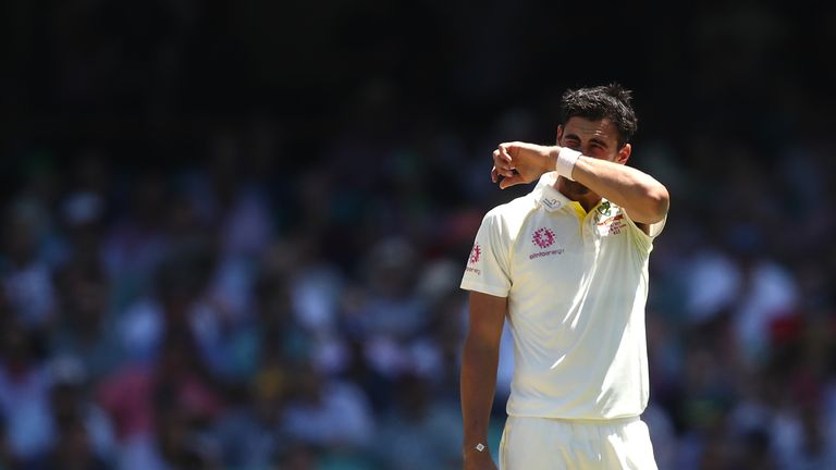 Mitchell Starc looked out of sorts against India