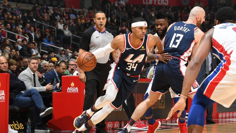 Highlights from the NBA as Detroit Pistons took on LA Clippers at the  STAPLES Center