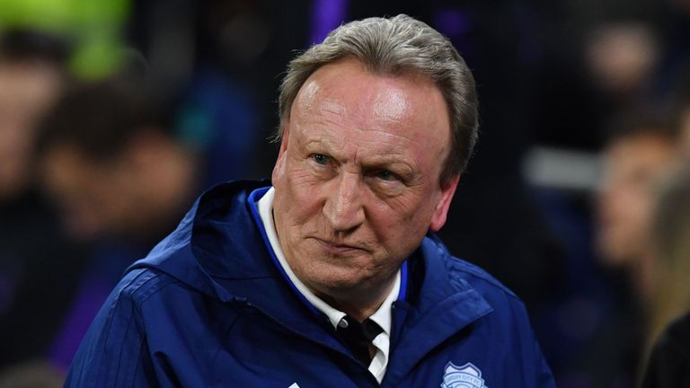 Neil Warnock's Cardiff suffered defeat at Tottenham