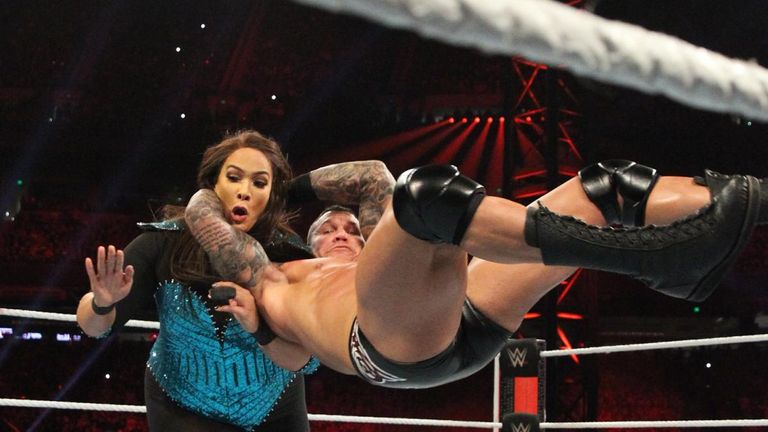 Nia Jax made her presence felt by entering the men's Royal Rumble, but was met with an RKO from Randy Orton