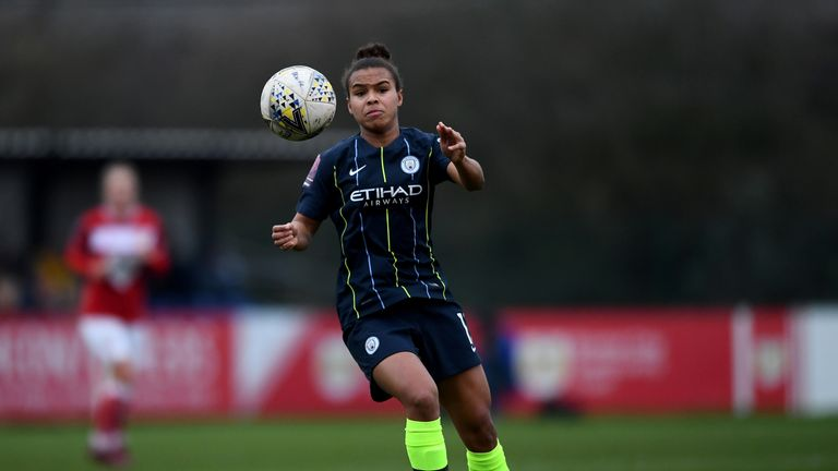 Nikita Parris scored for Man City on Sunday
