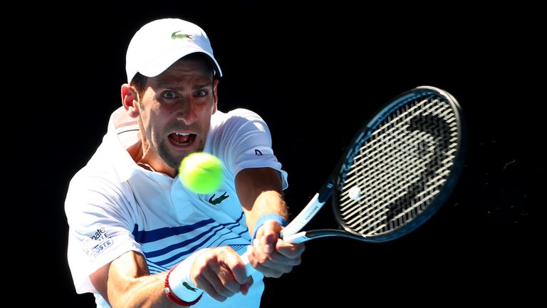 Novak Djokovic lost a set at the Australian Open for the first time this year
