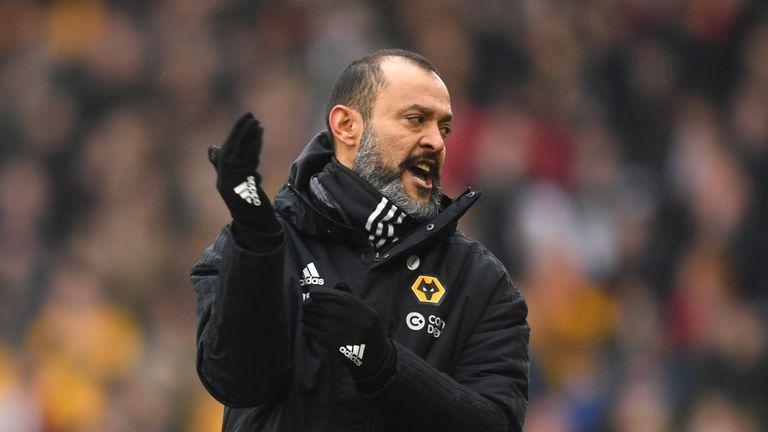Nuno Espirito Santo during the Premier League match between Wolverhampton Wanderers and Leicester City at Molineux