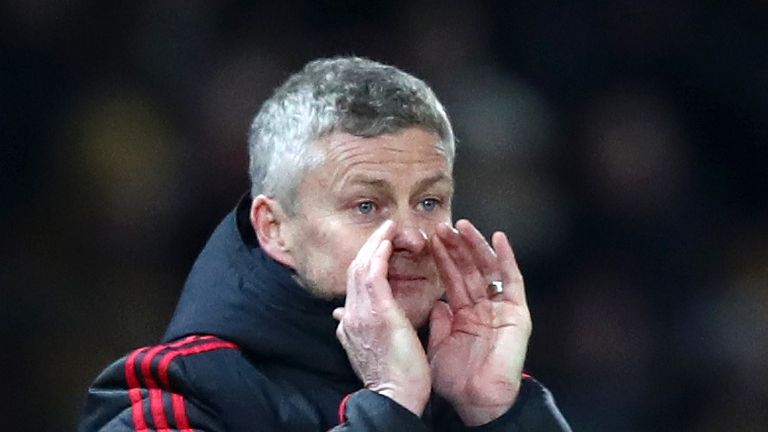 during the Premier League match between Manchester United and Burnley at Old Trafford on January 29, 2019 in Manchester, United Kingdom.