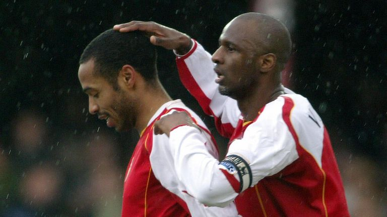 Thierry Henry and Patrick Viera enjoyed success together at Arsenal