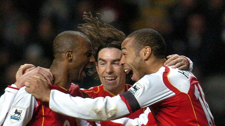 Vieira and Henry won two Premier League titles at Arsenal