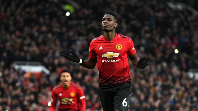 Paul Pogba celebrates his goal