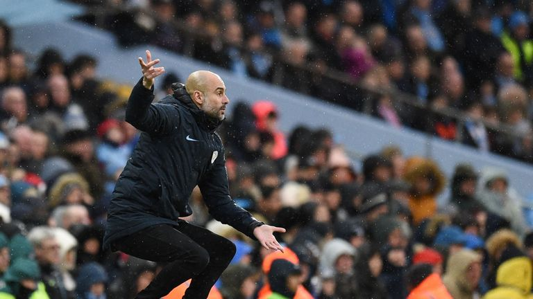 Pep Guardiola is happy with City's improving form
