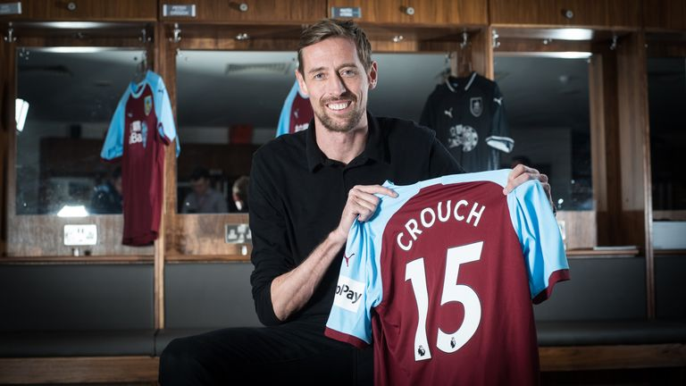 Peter Crouch has returned to the Premier League with Burnley