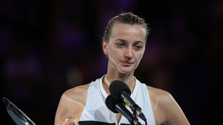 Petra Kvitova said she was hurting but still felt like a winner despite her defeat against Osaka