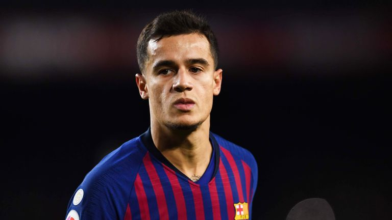 Philippe Coutinho during the La Liga match between Barcelona and Villarreal at the Nou Camp Stadium on December 02, 2018