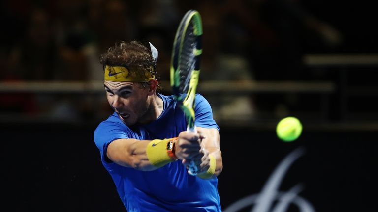 Nadal won the FAST4 Showdown on Monday evening