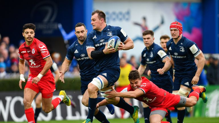 Leinster's Rhys Ruddock led from the front against Toulouse in Dublin