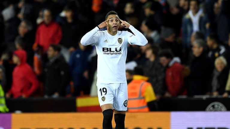 Rodrigo Moreno was sent off in Valencia's win