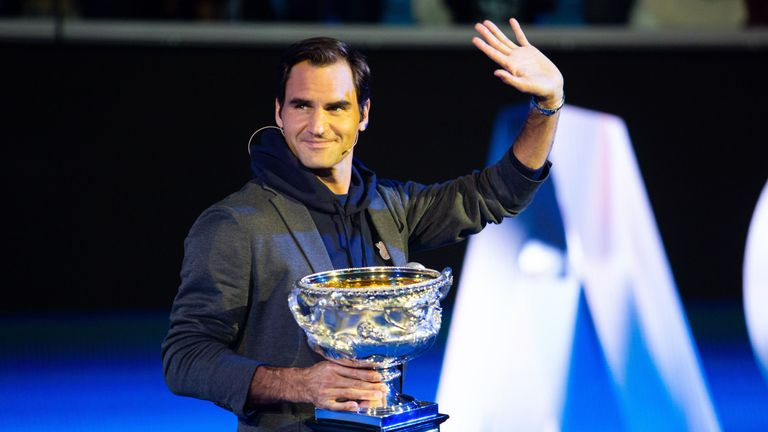 Roger Federer will be bidding to land his third consecutive Australian Open title