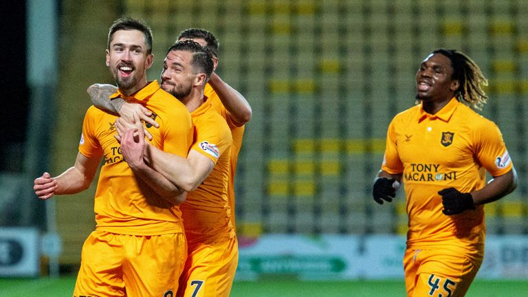 Ryan Hardie celebrates one of his six goals for Livingston this season