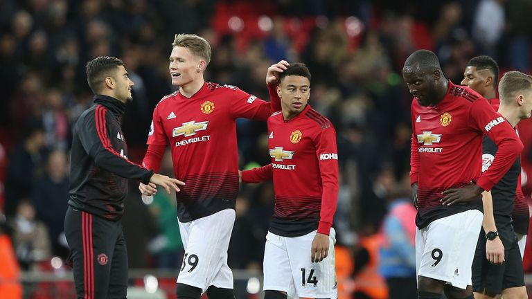 Scott McTominay played for Manchester United against Tottenham at Wembley on Sunday