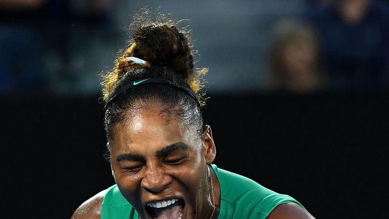 Serena Williams was left in awe of Woods' success on Sunday