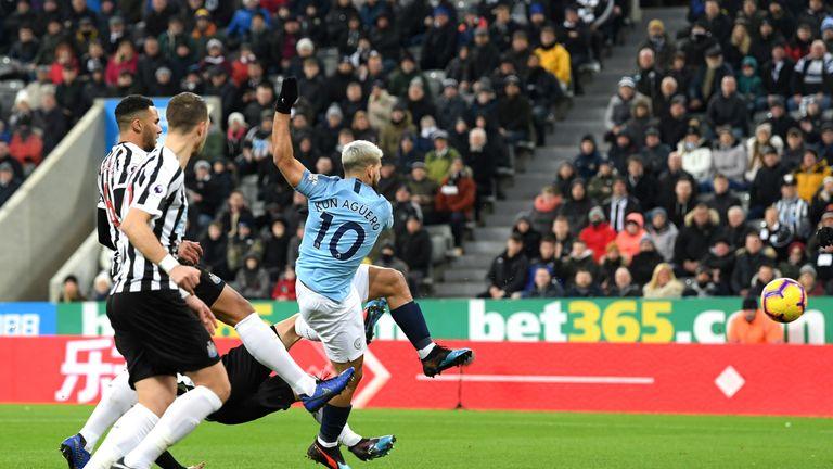 Sergio Agureo scores early at St James' Park