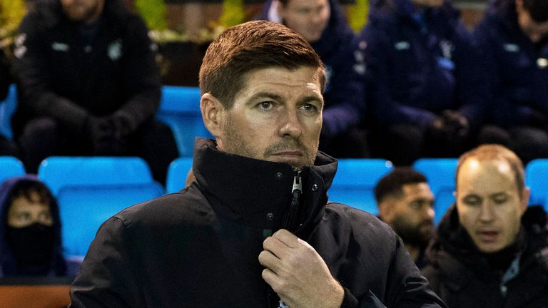 Steven Gerrard saw Rangers beaten by Kilmarnock