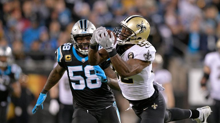 Thomas Davis in action against New Orleans Saints