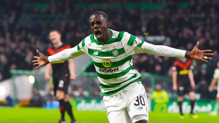 Celtic will host St Johnstone in round five after a Timothy Weah goal helped them beat Airdrie