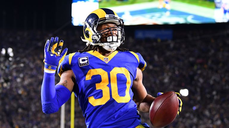 Todd Gurley racked up 115 yards and one touchdown