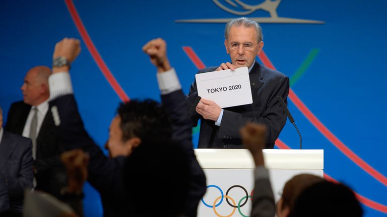 Tokyo was awarded the 2020 Olympic games by the IOC in 2013