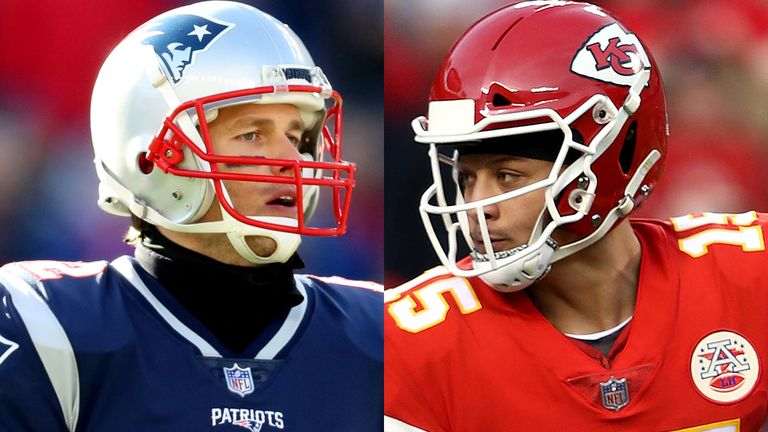 9f0a7a5bc Tom Brady and Patrick Mahomes meet in the AFC Championship game on Sunday  night