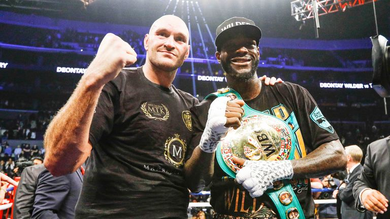 Wilder battled to a draw with Tyson Fury in Los Angeles in December