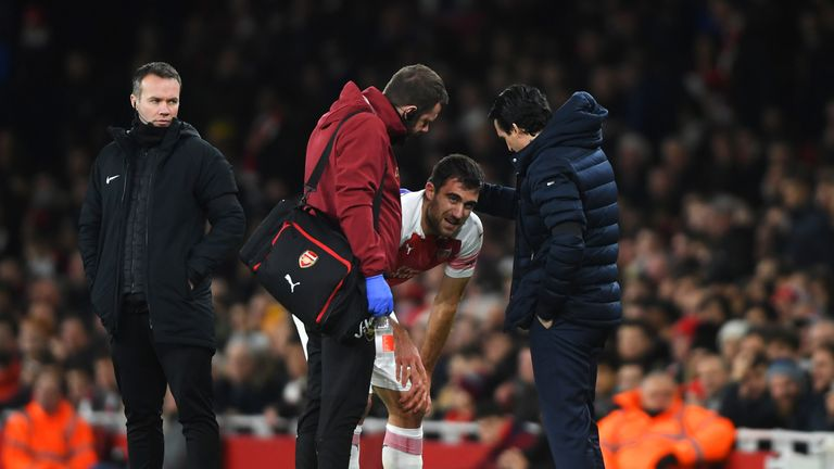 Unai Emery's night was not aided by injuries to Sokratis Papasthatopolous and Laurent Koscielny