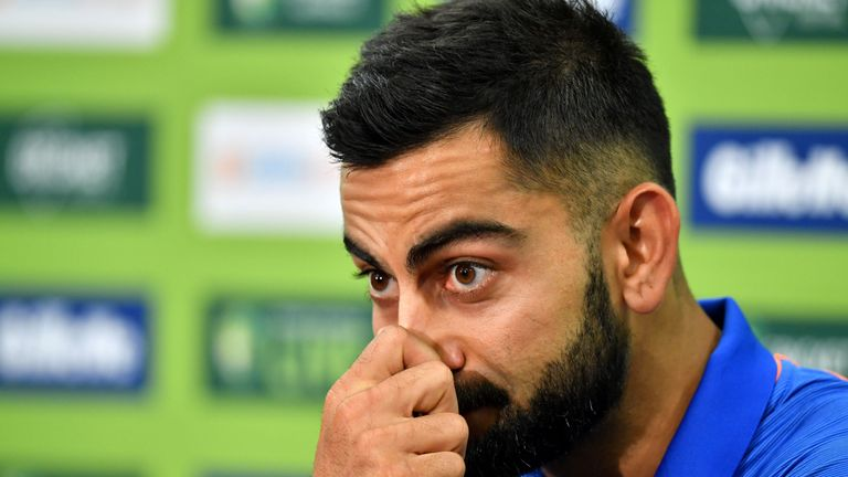 Virat Kohli was pressed about Hardik Pandya's comments ahead of the first ODI