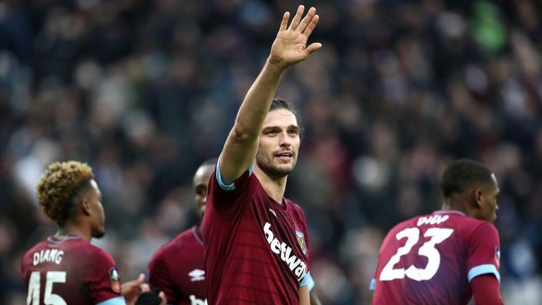 Andy Carroll scored West Ham's second goal against Birmingham