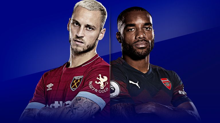 West Ham United v Arsenal is live on Sky Sports from 11.30am on Saturday