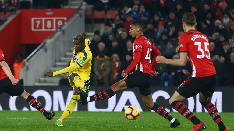 Zaha had earlier hammered in what looked to be the winner
