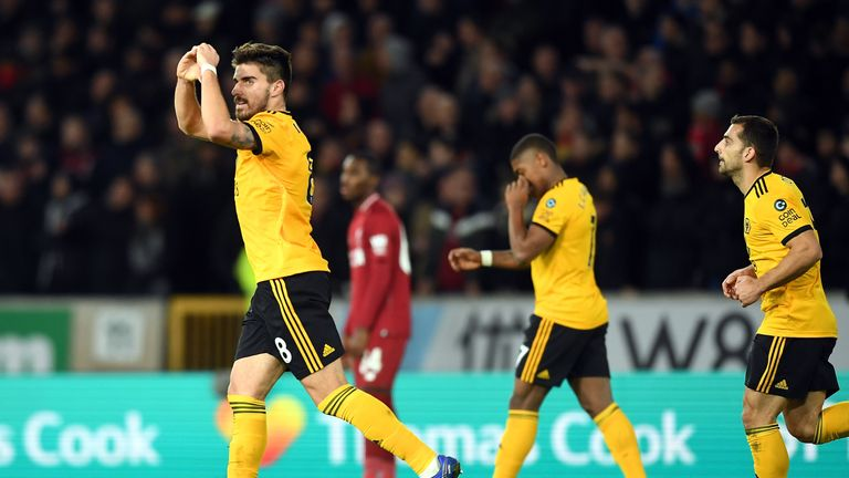 during the Emirates FA Cup Third Round match between Wolverhampton Wanderers and Liverpool at Molineux on January 7, 2019 in Wolverhampton, United Kingdom.