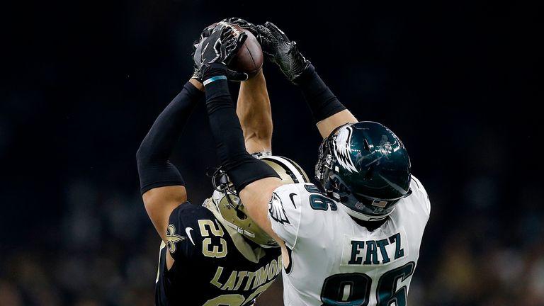 Lattimore rose high to take the ball away from Zach Ertz