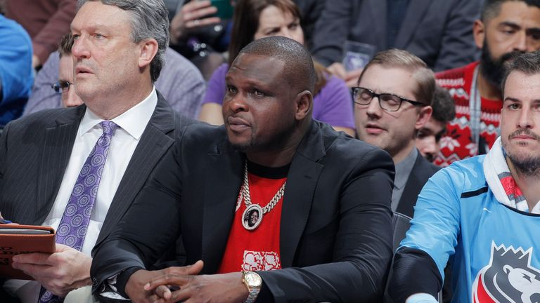 Zach Randolph watches on from the Sacramento Kings bench