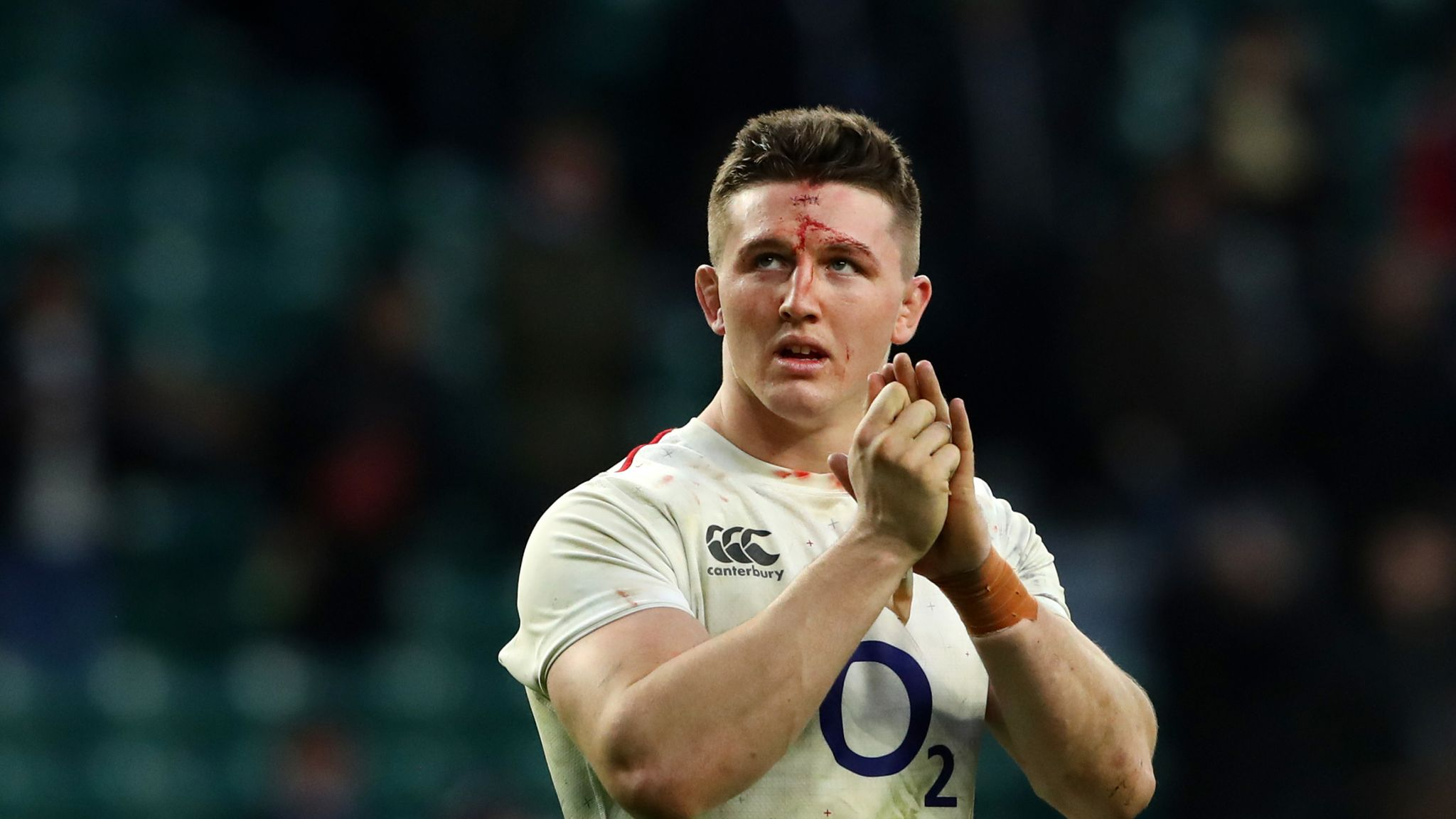 Tom Curry's mum was reduced to tears by his bloody head injury in England's  over France | Rugby Union News | Sky Sports