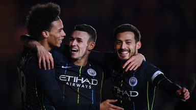 Phil Foden scored twice to help Manchester City reach the FA Cup quarter-finals