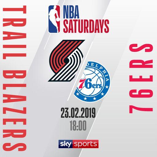 Blazers @ 76ers free on Sky Sports