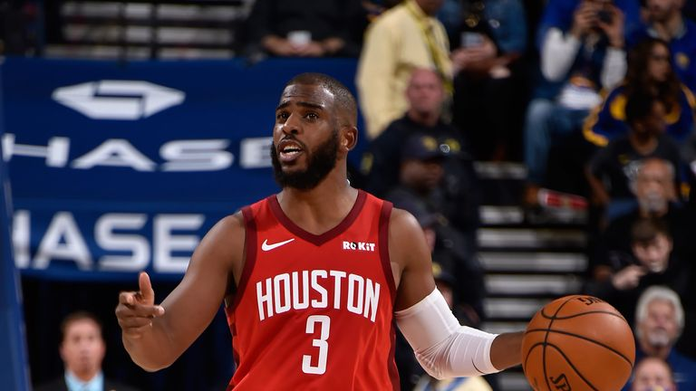 Chris Paul in action against Golden State