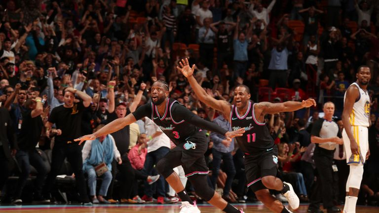 Dwyane Wade miracle shot at buzzer seals Miami Heat win ...