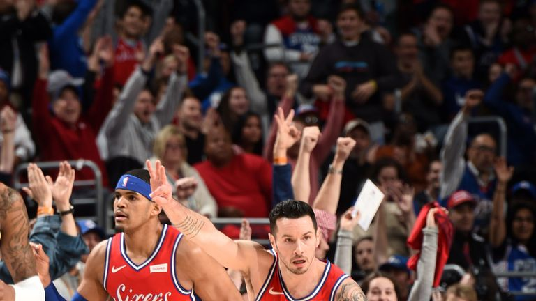 JJ Redick scores 34 points to lead Philadelphia 76ers to