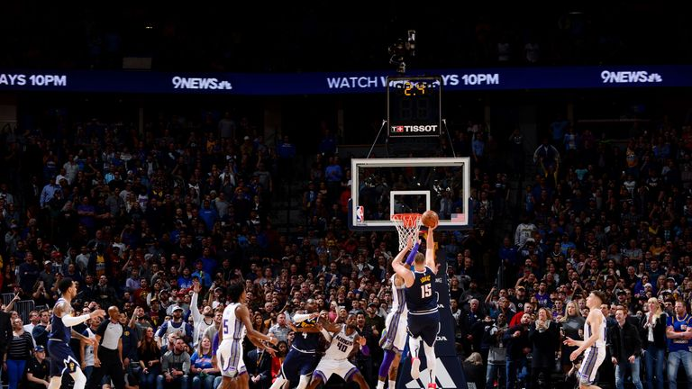 Nikola Jokic tips in a game-winning shot against Sacramento
