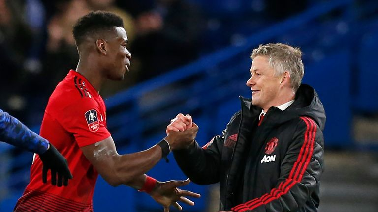 Ole Gunnar Solskjaer (right) has brought about a huge upturn in United's form since replacing Jose Mourinho in December
