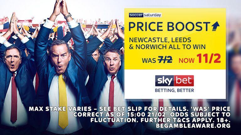 Soccer Saturday Price Boost 23 Feb 2019