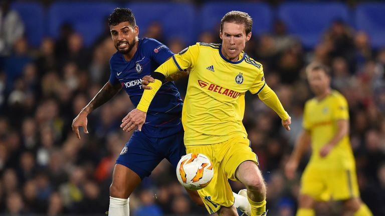 Alexander Hleb (right) - who is now at BATE - is set to line up against his former club on Thursday evening