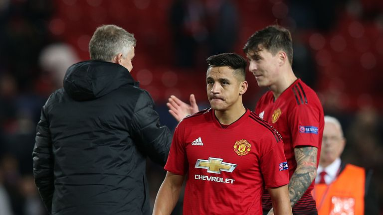 Alexis Sanchez did not make the desired impact in the second half for United